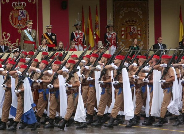Events taking place at Spain's National Day with the slogan