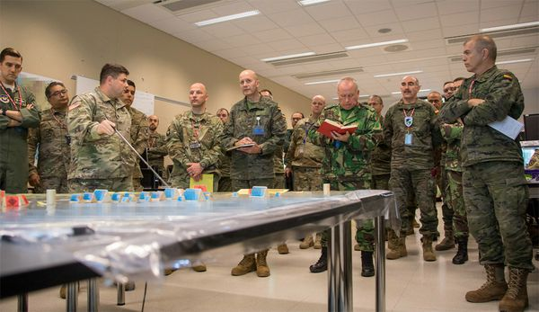 NATO's Spanish Staff , important contribution to 'Trident Javelin 17'