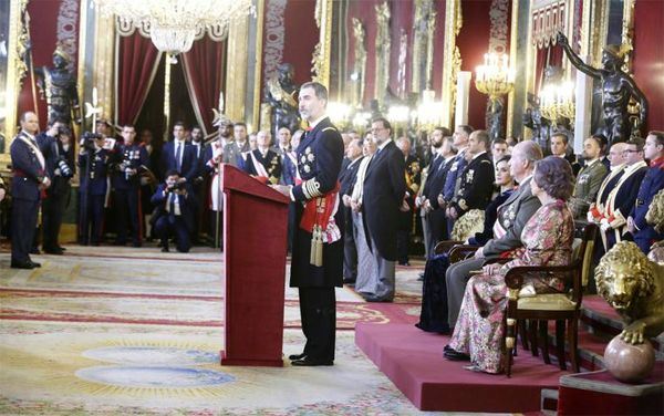 "King's speech in ""Pascua Militar"""