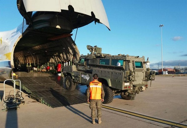 Vehicles' load  in an AN-124