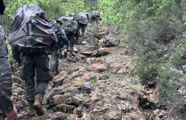 The soldiers in the march on Soria's land