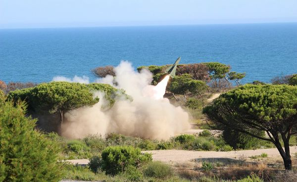 The 74TH RAAA launches a Hank missile with the battery which will deploy in Norway in October