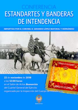 Conferencia 'Estandartes y banderas de Intendencia' en Madrid