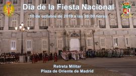 Retreta militar en Madrid