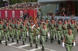 The Spanish National Day parade is marked by the 30th anniversary of Spain's participation in foreign missions
