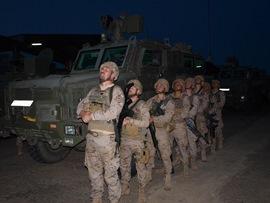 Legionarios de la VIII Bandera preparados para comenzar el ejercicio