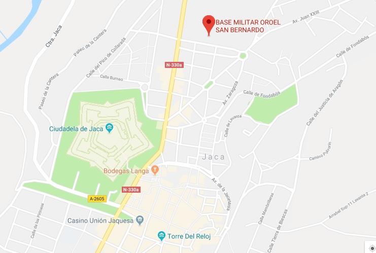 Mapa De Jaca Huesca.Ejercito De Tierra