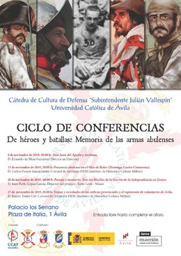 Cartel del ciclo de conferencias.