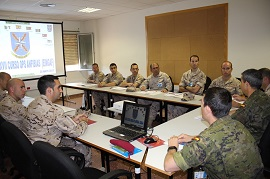 Spanish Navy XXVII Amphibian Operations Course visits the HQ NRDC-ESP