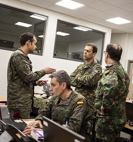 Personnel from NRDC-ESP in Eurocorps