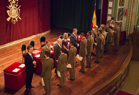 Fifth-year students receive their degree diploma