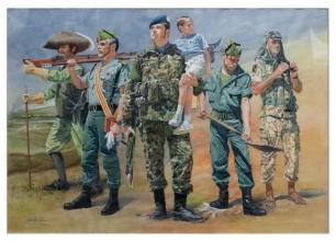 Evolución de la Legión. Museo del Ejército.