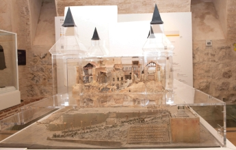 Scale model of the Alcázar after the siege of 1936